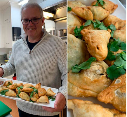 "Samosas for PM Modi from Australia Australian PM Scott Morrison shared a drool-worthy image of samosas with chutney on his Twitter account with a caption: ""Sunday ScoMosas with mango chutney, all made from scratch - including the chutney! A pity my meeting with @narendramodi this week is by a videolink. They're vegetarian, I would have liked to share them with him."" To which PM Modi tweeted: ""Connected by the Indian Ocean, united by the Indian Samosa! Looks delicious, PM @ScottMorrisonMP! Once we achieve a decisive victory against COVID-19, we will enjoy the Samosas together. Looking forward to our video meet on the 4th."""