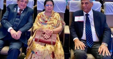 PRID Yash Pal Das (R) with Rajashree Birla, chairperson, Aditya Birla Centre for Community Initiatives and Rural Development, and PRID Ashok Mahajan at the Centennial Summit in Kolkata in Feb 2020.
