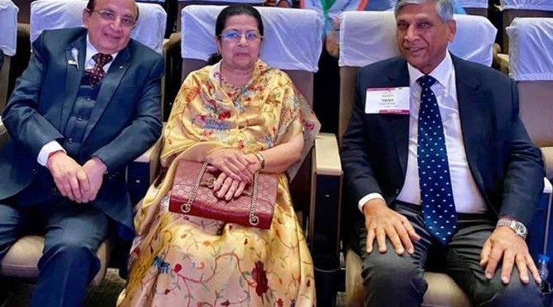 PRID Yash Pal Das (R) with Rajashree Birla, chairperson, Aditya Birla Centre for Community Initiatives and Rural Development, and PRID Ashok Mahajan at the Centennial Summit in Kolkata in Feb 2020.