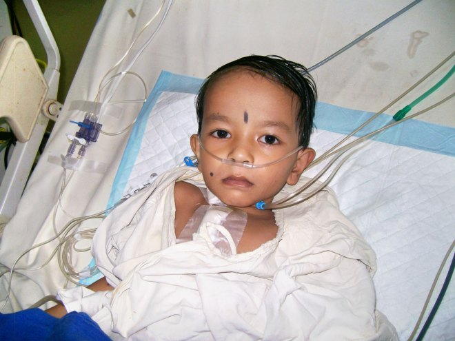 A child beneficiary from Indonesia.