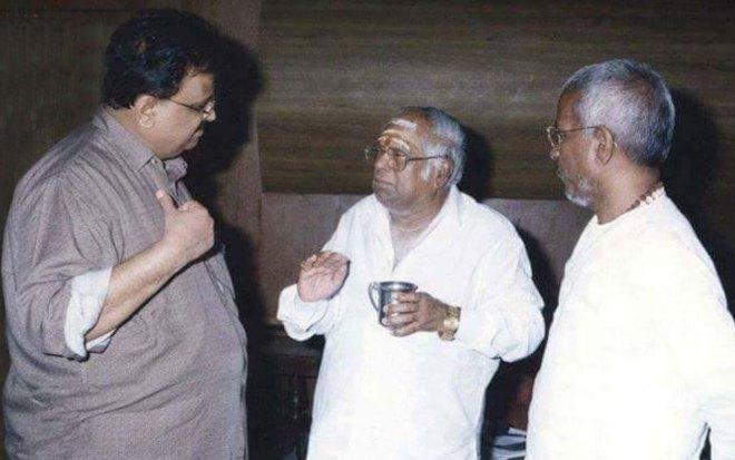 With MS Viswanathan and Ilayaraja.