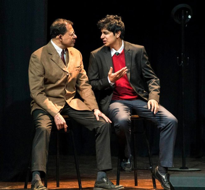 Rtns Solomon Paramel and Abhijit Raghunathan in Photograph 51, a play on the race to crack the DNA code and rivalry between the labs in Cambridge University and King's College.
