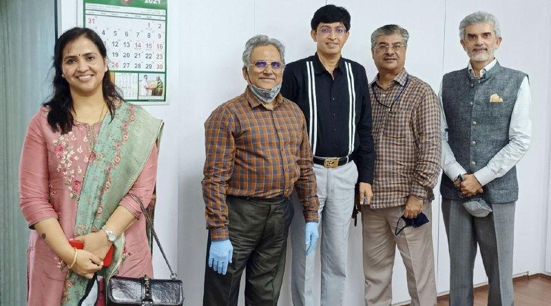 From L: Rtn Dr Anuradha Ganesan; Rtn Dr Gauthamadas Udipi; TN health secretary Dr J Radhakrishnan; Rtn Vivek Harinarain and RC Madras president Kapil Chitale.