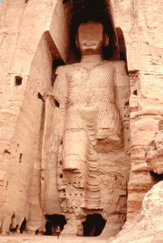 A desecrated Bamiyan Buddha.