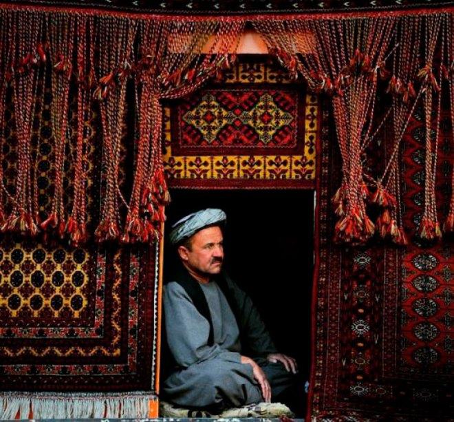 A carpet seller in Kabul.