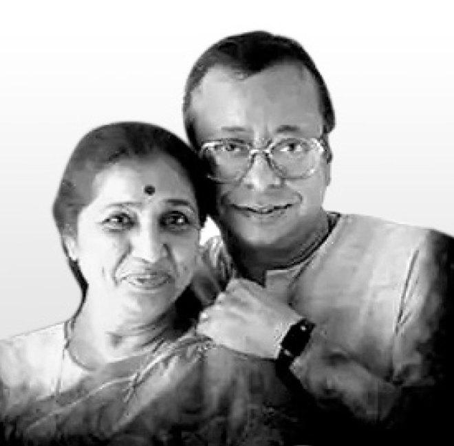 with her husband RD Burman.