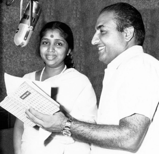 with Mohammad Rafi.