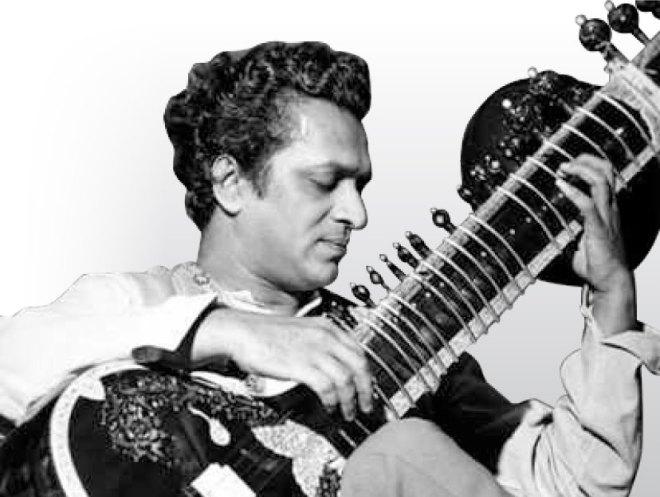 Pandit Ravi Shankar in his younger days.