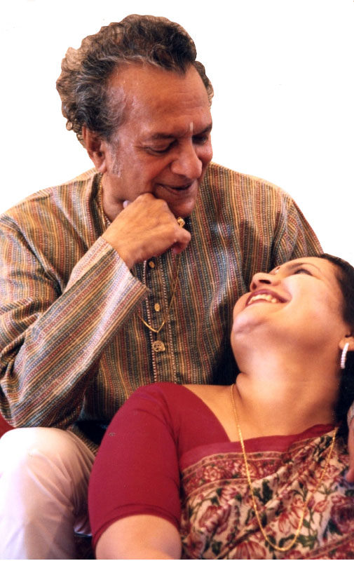 Pandit Ravi Shankar and his wife Sukanya.