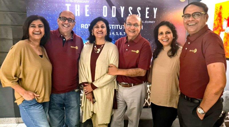 (From L) Anu, PDG Sandeep Narang, Sonal,  RID Kamal Sanghvi, Minakshi and PDG Sanjay Khemka.