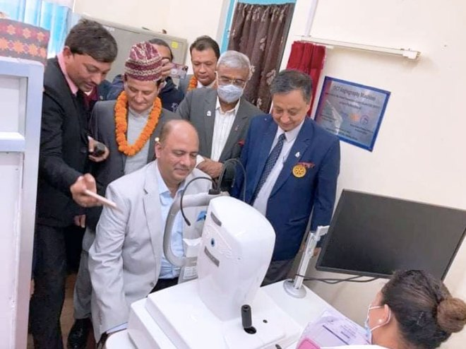 RIPE Mehta takes a look at the angiography equipment.