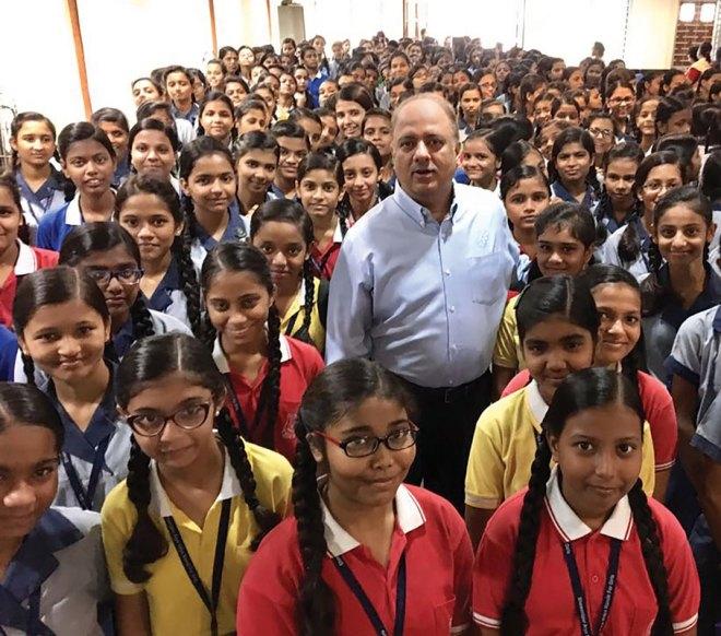 RC Calcutta Mahanagar supports this girls' school in Kolkata, Bhowanipur Arya Vidya Mandir, with a daily breakfast for more than 1,000 students.