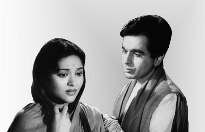 With Vyjayanthimala in Devdas (1955).