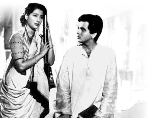 With his 'Paro' Suchitra Sen in Devdas.