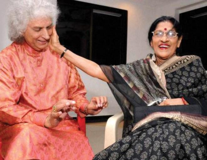 With santoor maestro Shivkumar Sharma.