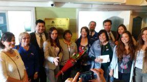 Percy Marín y Sra., Yolanda Pablo, Isabel Leiva, Oriana Díaz