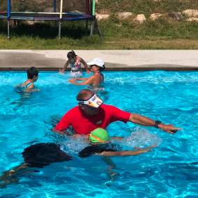 Swimming pool sessions with autistic kids