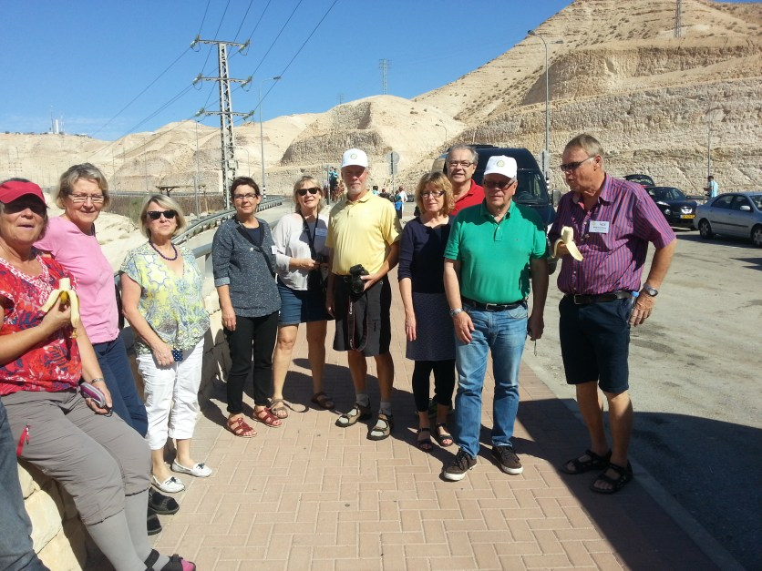 District 2400, Sweden, visitors heading to the Dead Sea in Israel. Photo courtesy of Ephraim Pri-Har