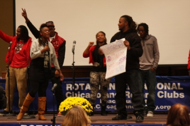 Spoken Word is a group of young artists that work with youth to share their thoughts and feelings through music and rhyme - they are at all of our Peace Summits and parades.