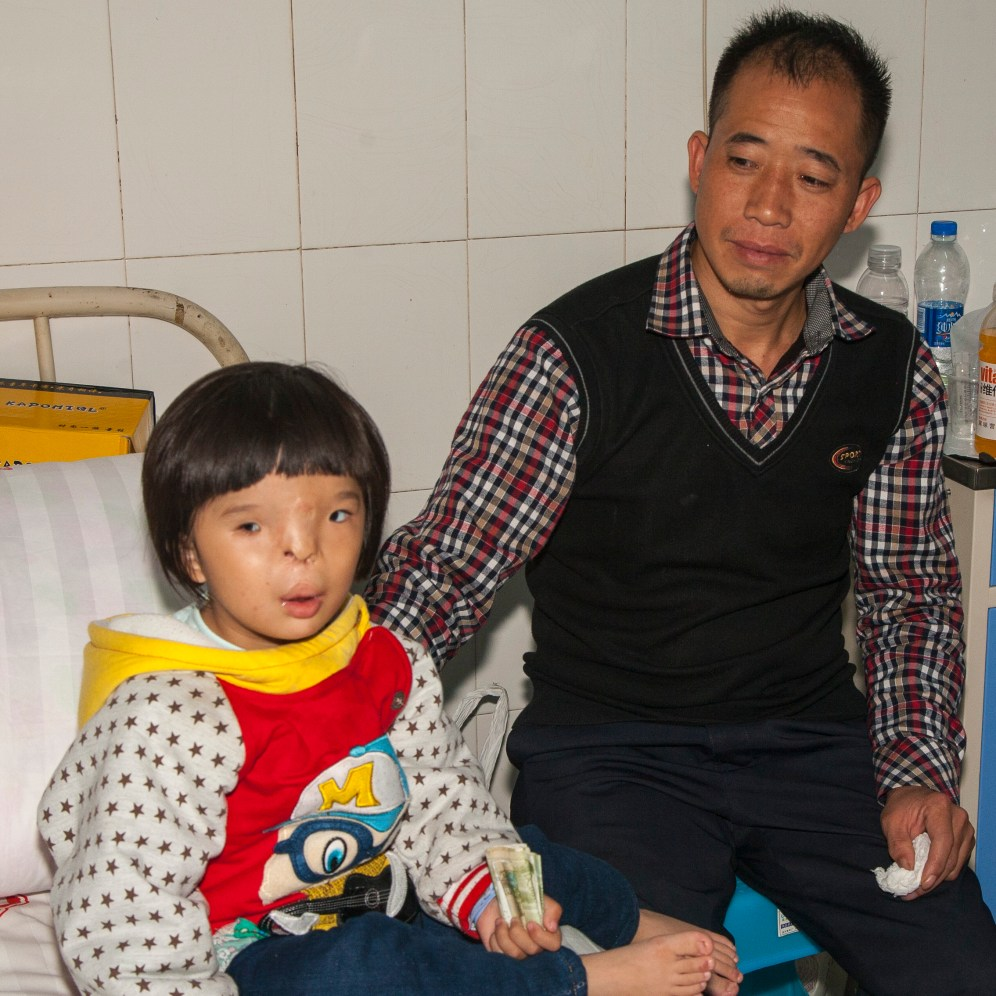 Pei with her father.