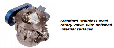 Standard Stainless Steel Rotary Valve Polished Internal Surface