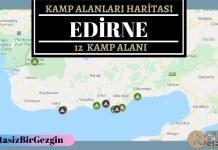 22 Edirne Ucretli ve Ucretsiz Kamp Alanlari Haritasi