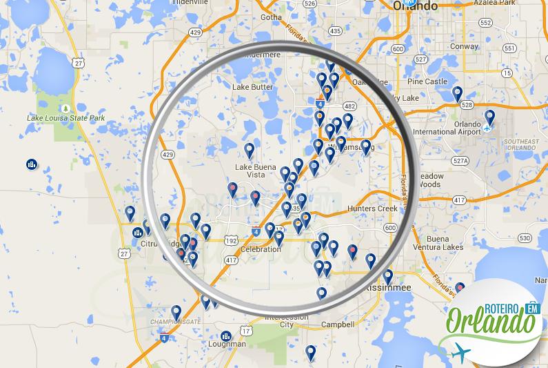 Onde se hospedar em Orlando  Roteiro em Orlando