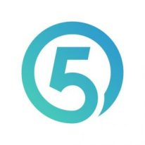 logo bleu fiver hd haute definition