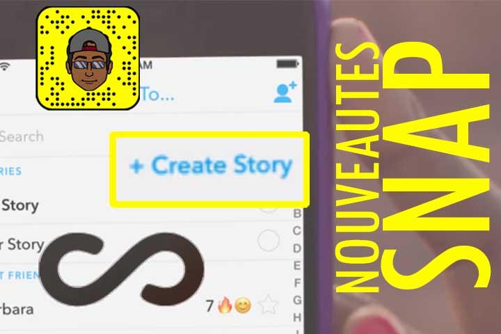 Snapchat, fait le plein de nouveautés ! Super Story….
