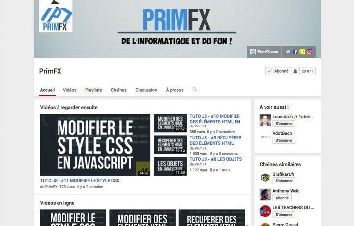 chaine youtube boris flesch primfx code vidéos