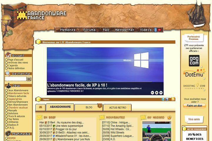 Jouez aux vieux jeux PC/Mac grâce à Abandonware France !
