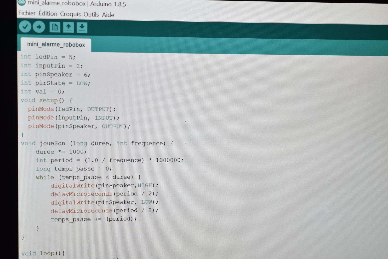 programme arduino
