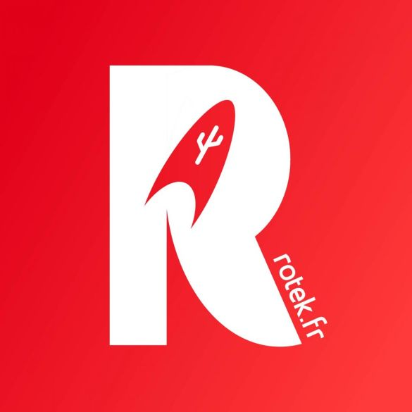 Logo Rotek 2019 2020 fond rouge