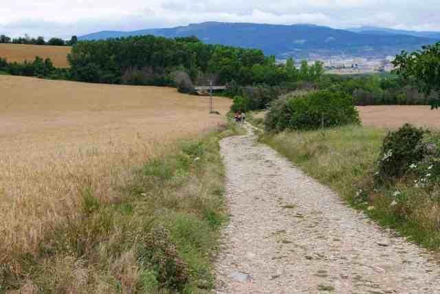 The Pilgrim Path towards Alto del Perdon