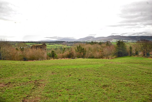 The top of Coolhill Castle and the Blackstairs