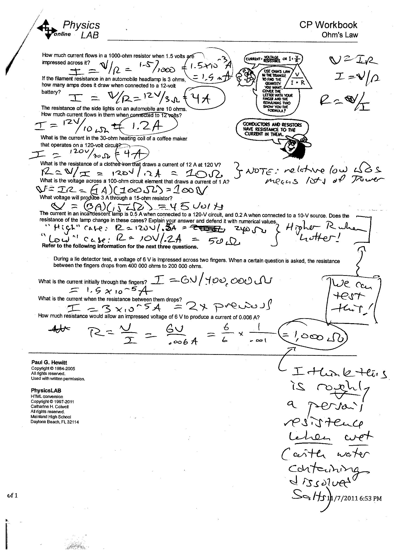 Work And Power Problems Worksheet With Answers
