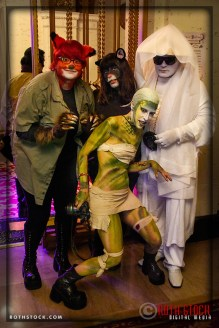 Photographer Violet Schrage (front) and friends at the 18th Annual Labyrinth Of Jareth Masquerade Ball