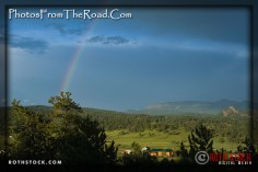 Rainbow in the Rocky Mountains of Colorado.