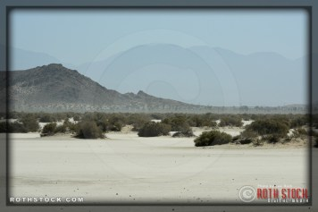 Desert atmosphere at SCTA - Southern California Timing Association's Land Speed Races at El Mirage Dry Lake