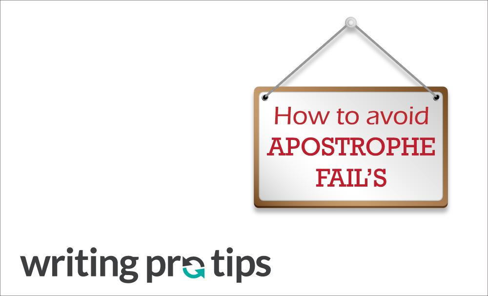 How To Avoid Apostrophe Fails