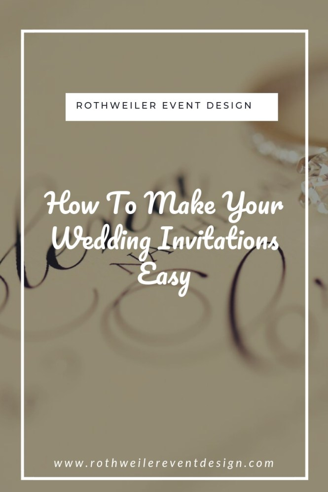 How To Make Your Wedding Invitations
