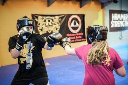 Youth Kickboxing spar