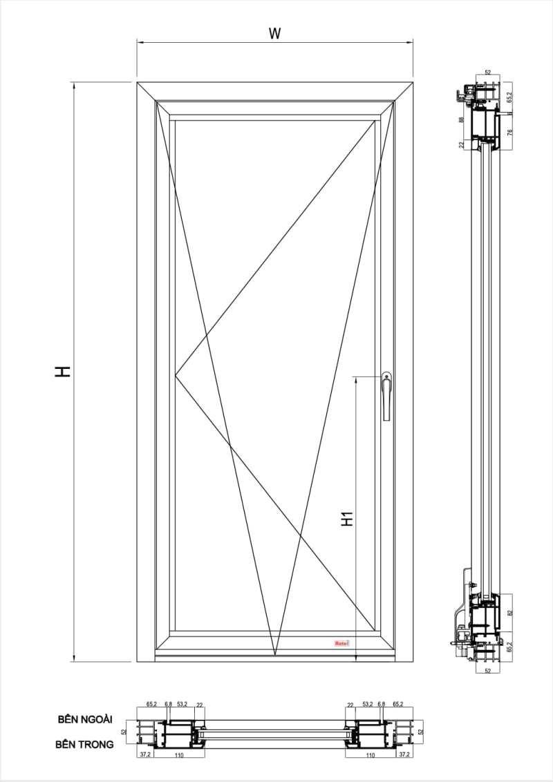 cấu tạo cửa nhôm