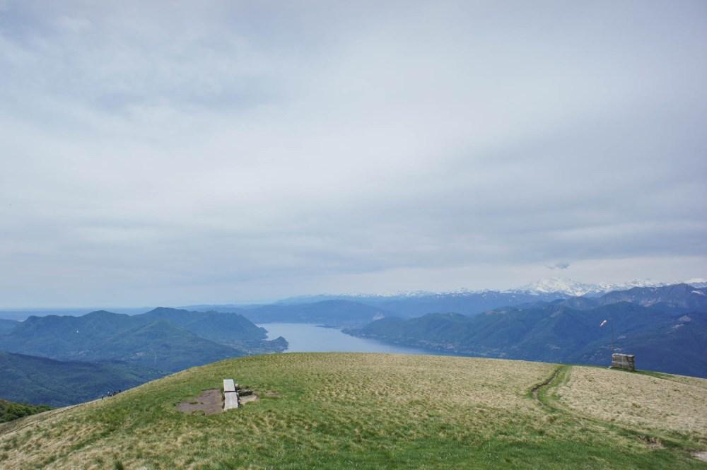 Monte Lema - Aussicht nach Italien zum Lago Maggiore