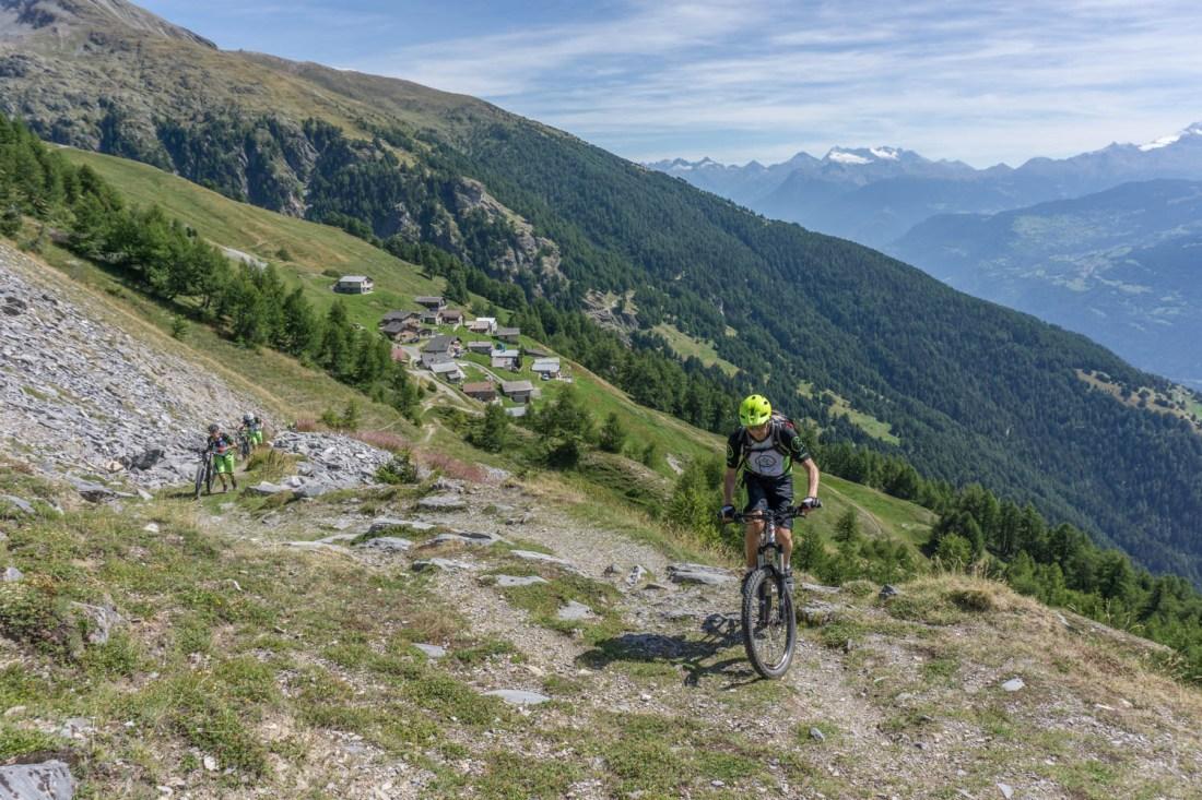Steiler Aufstieg nach Oberu