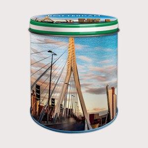 Bewaarblik met de Rotterdamse skyline