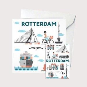 Cadeaukaart Rotterdam met koelkastmagneet