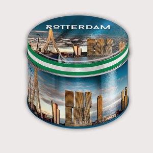 Lekkernijblik met de Rotterdamse skyline
