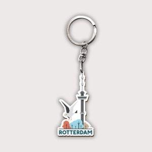 Rotterdamse sleutelhanger van hout