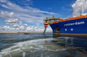 Baggerschip bij Maasvlakte